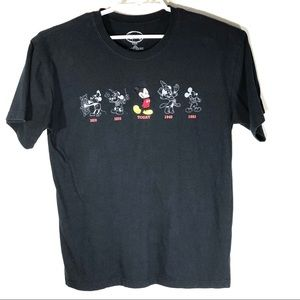 Disney Mickey Through The Ages Black large Shirt